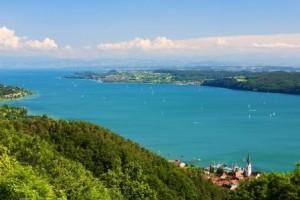 Panoramablick über Sipplingen und Überlinger See von Haldenhof